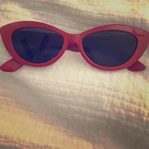 Red retro cat eye sunglasses from Nordstrom